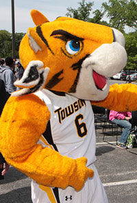 photo of Towson Tiger mascot
