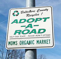 Adopt-A-Road sign