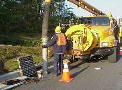 Image of storm drain cleaning.