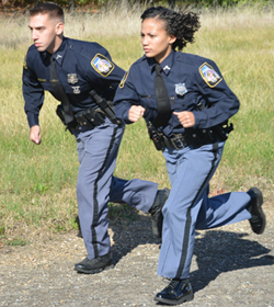 Image of Baltimore County Police Officers running.