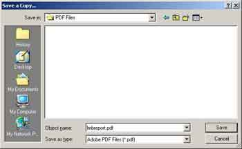 Save PDF File that is Open with Adobe Reader