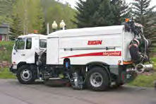 Image of a street sweeper truck.