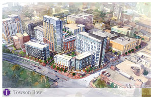 Conceptual rendering of Towson Row.