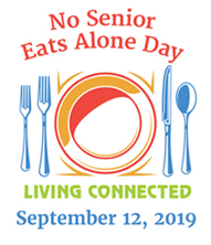 The No Senior Eats Alone Day Living Connected logo.