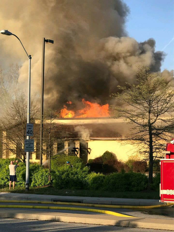 Two-alarm fire at Macaroni Grill, Lutherville-Timonium