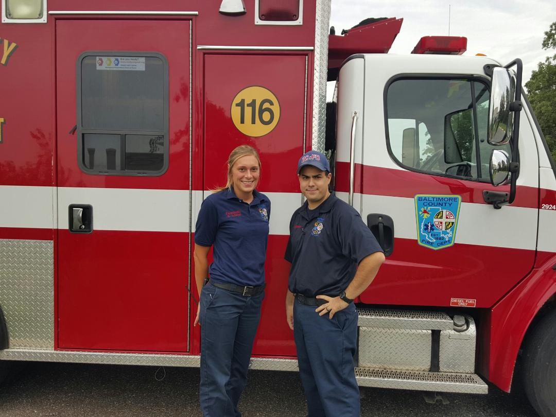 PM Kelsey Adams and EMT Vincent Tabares, assigned to newly deployed Medic 116 in Golden Ring.