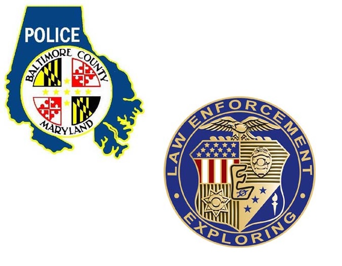 Images of Baltimore County Police and Explorer logos.