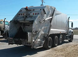 County garbage truck