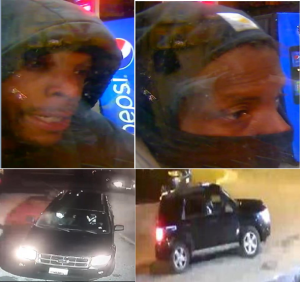 photos of suspect and vehicle